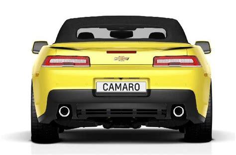 rear     chevrolet camaro convertible