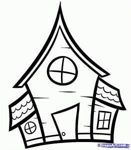 How to Draw a Haunted House For Kids, Step by Step ...
