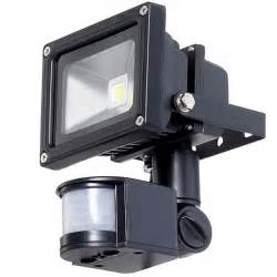 W v led flood light with pir motion detector