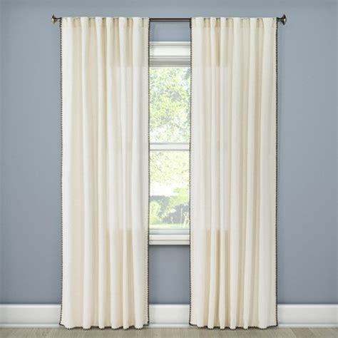 Target Drapery Panels by Stitched Edge Curtain Panel Threshold Target