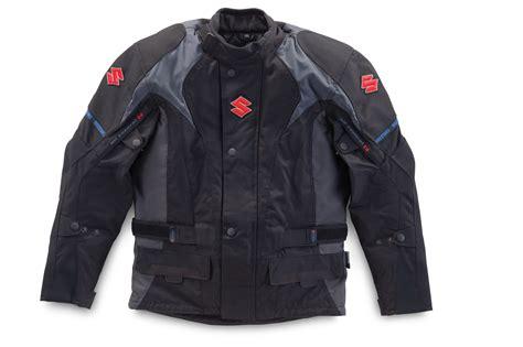 Genuine Suzuki Men's Textile Touring Jacket Black Buttoned