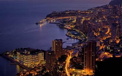 Monaco Wallpapers Night Desktop Backgrounds Background Computer