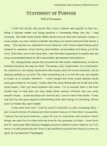 Statement of Purpose Sample Essays
