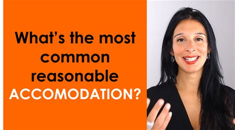 What's The Most Common Reasonable Accommodation?