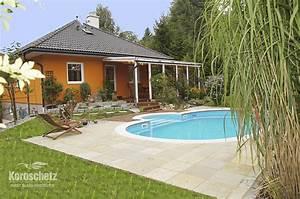 Bungalow Mit Pool : vermietet romantischer bungalow mit berdachter terrasse und pool immobilien koroschetz ~ Frokenaadalensverden.com Haus und Dekorationen