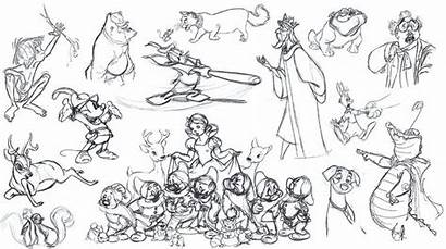 Disney Coloring Coloriage Croquis Adults Personnages Childhood