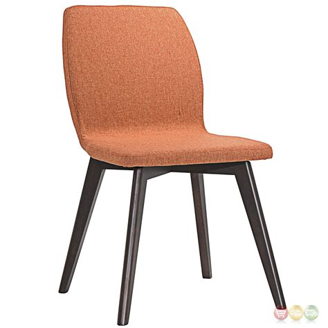 proclaim contemporary upholstered dining side chair w wood