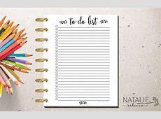 Happy Planner To Do List Happy Planner Printable Insert
