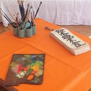 Nappe Ovale Enduite : nappe enduite ronde ou ovale unie orange fleur de soleil ~ Teatrodelosmanantiales.com Idées de Décoration