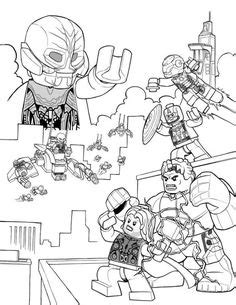Coloring page for Kids - How To Draw LEGO Avengers