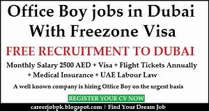 office boy jobs in dubai with free visa With documents required for job in dubai