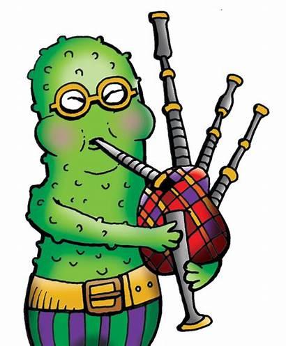 Veggie Mirmade Drawings Pickle Bagpipe