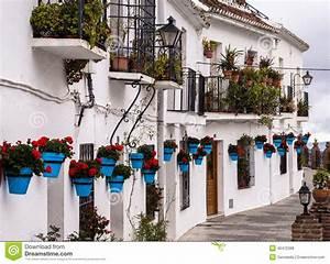 Terassenförmig Angelegte Weiße Häuser In Andalusien