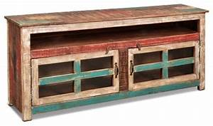 La Boca Rustic Solid Wood 65quot TV Stand Beach Style