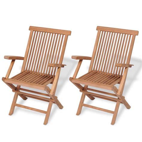 vidaxlcouk vidaxl teak garden chairs  pcs xx cm