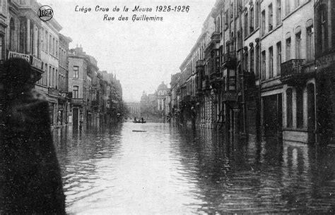 la meuse la lanterne liege plans de liege limites de l innondation de la meuse au 1er janvier 1926 lekenne 1926