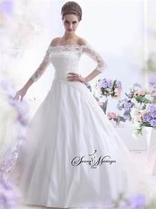 Robe Mariage Dentelle : robe de mariee dentelle et manche sur une base robe de ~ Mglfilm.com Idées de Décoration
