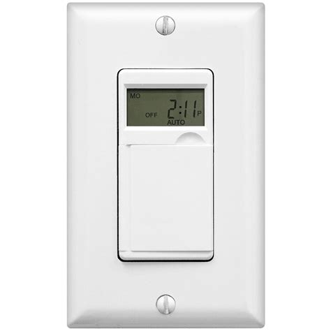 in wall 7 day digital programmable timer switch for fans