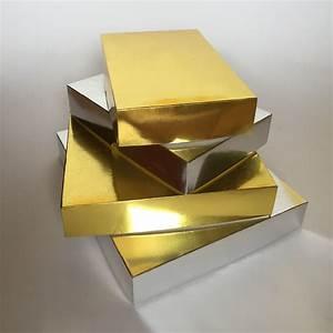 Metallic Gold & Metallic Silver Cardboard Packaging Boxes ...