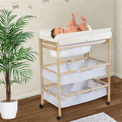 mueble cambiador bebe tectake cambiador con bañera ída para bebés mueble