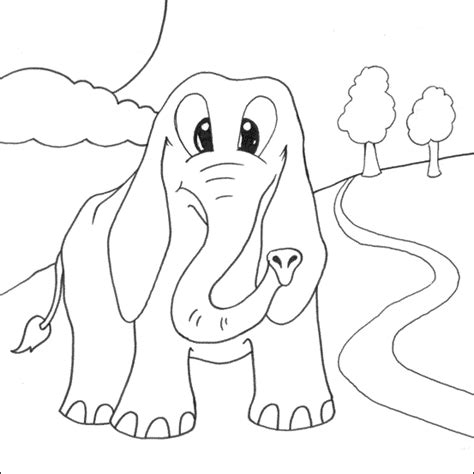 Coloring Gajah by Mewarnai Gajah Marioatha