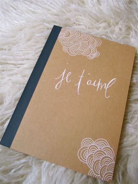 hand scripted  illustrated cover  kraft brown
