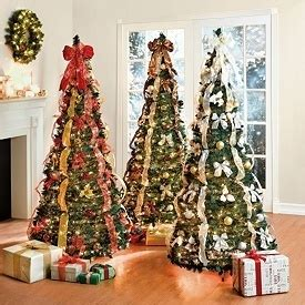 new 6 ft pre lit fully decorated pop up christmas tree