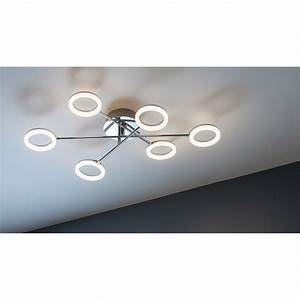 Plafonnier Led Leroy Merlin : plafonnier led int gr e iring inspire chrome bross 5 w ~ Dailycaller-alerts.com Idées de Décoration