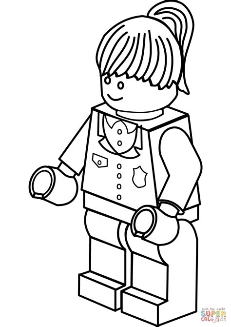 Lego Police Woman coloring page | Free Printable Coloring ...