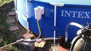 Hacked Intex 18 With Standard Above Ground Skimmer  1hp Pump  And 110lb Sand Filter