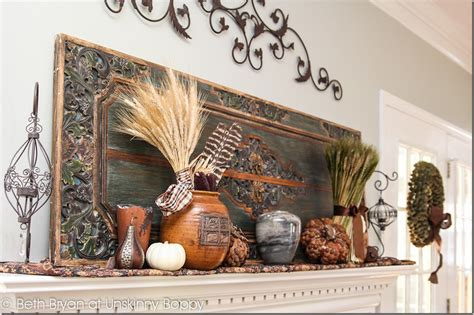 thanksgiving mantel decorating ideas fall 2012 mantel decadent and textured unskinny boppy