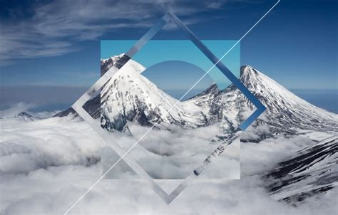 wallpaper abstract nature mountain snow geometry