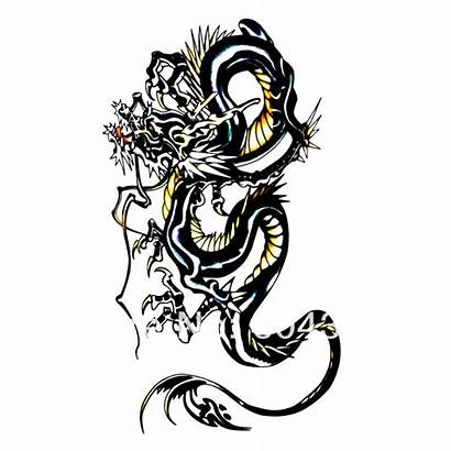 Chinese Tattoo Dragon Outline Clipart Cliparts Arm