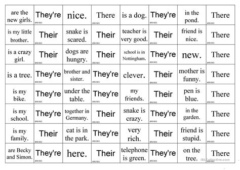 they re there or their worksheet free esl printable