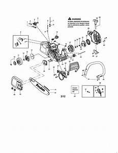 Poulan P3816 Type 2 Gas Chainsaw Parts