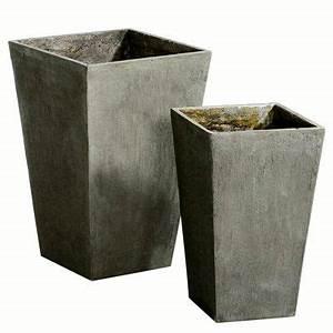 Cache Pot Haut : cache pot haut aspect beton pot de fleur pinterest ~ Teatrodelosmanantiales.com Idées de Décoration