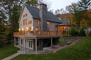 Lake House Plans With Walkout Basement Ideas by Lake Sunapee Nh View Traditional Basement Boston
