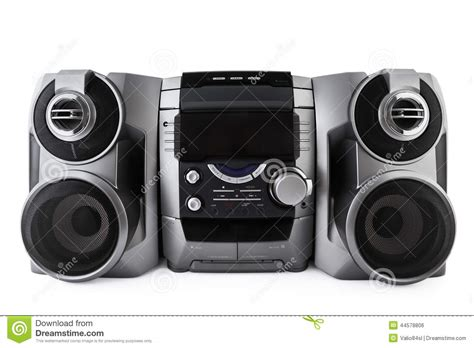 compact stereo system cd  cassette player isolated  clipp stock photo image