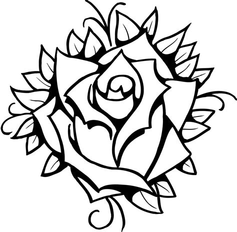 rose  drawing clipart