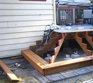 Escalier Terrasse Bois : escalier bois de jardin terrasse construire pour l forme ~ Nature-et-papiers.com Idées de Décoration