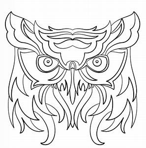 Abstract Owl coloring page | Free Printable Coloring Pages