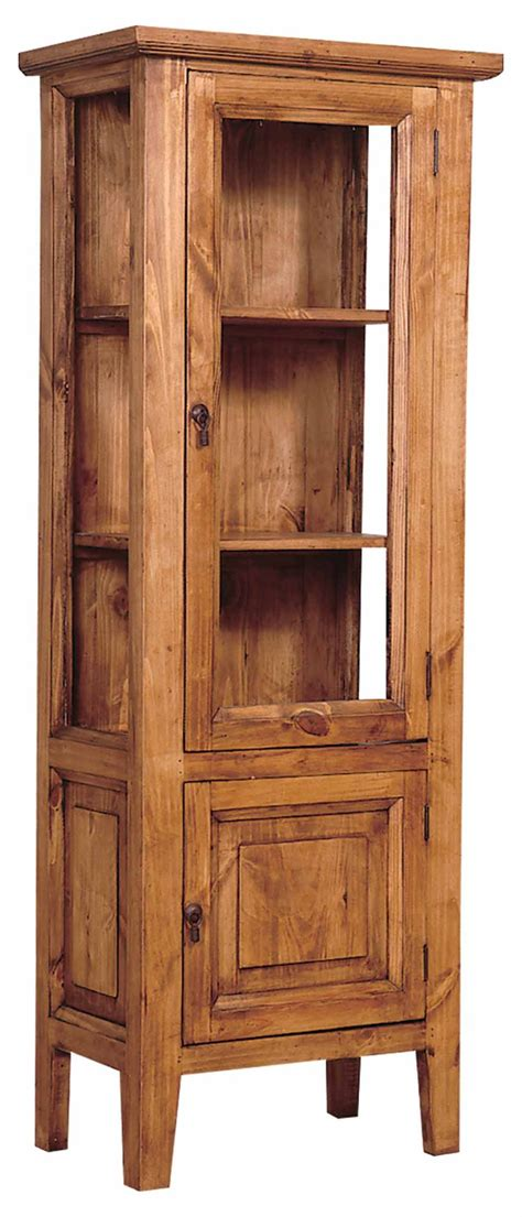 rustic pine curio cabinet dining furniture mexican
