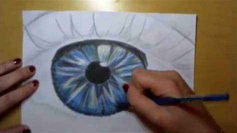 auge zeichnen mit buntstift youtube