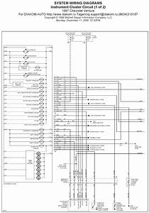 1997 Chevrolet Venture Instrument Cluster Circuit System Wiring Diagrams