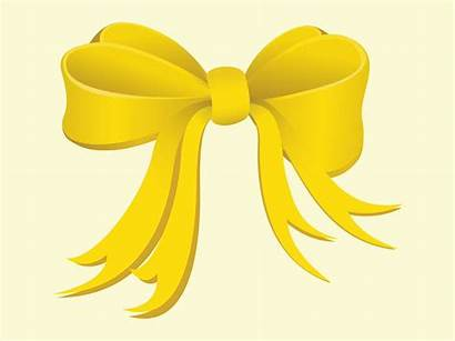 Bow Yellow Freevector