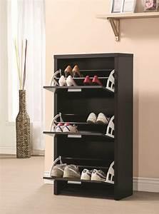 Petit Meuble Noir : stunning rangement chaussure noir with petit meuble de rangement noir ~ Teatrodelosmanantiales.com Idées de Décoration