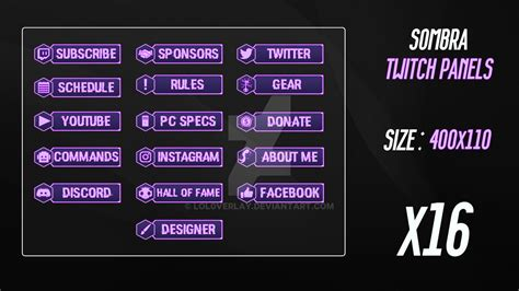 Twitch Panels By Lol0verlay On Deviantart
