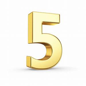 5 numerology gold number 5 clip art clipart With best brand of paint for kitchen cabinets with greek wall art sculpture