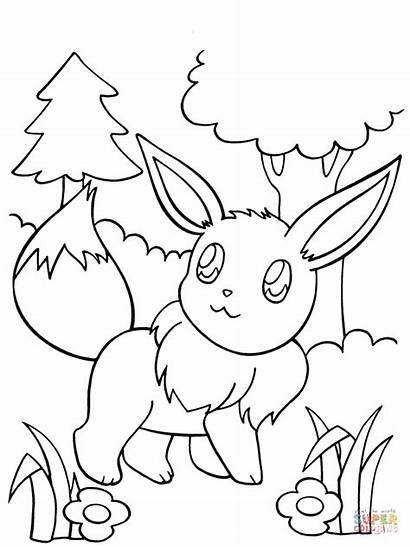 Eevee Kolorowanki Pokemon Coloring Colouring Printable Characters