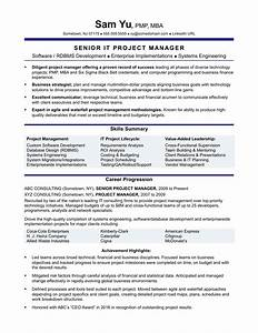Experienced it project manager resume sample monstercom for Project manager resume templates